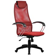 Офисное кресло Metta BK-8 (Цвет обивки:Красный, Цвет каркаса:Черный)