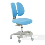 Подростковое кресло для дома FunDesk Primo (Цвет обивки:Голубой, Цвет каркаса:Серый)