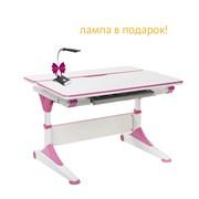 Парта-трансформер для школьника FunDesk Trovare (Цвет столешницы:Розовый, Цвет ножек стола:Розовый)