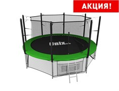 Батут UNIX line inside (427 см / 14 ft) (Цвет каркаса:Зеленый)