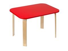 Детский столик Polli Tolli Мордочки красный (Цвет столешницы:Красный, Цвет ножек стола:Береза)