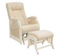 Кресло для кормления Milli Joy с пуфом (Цвет обивки:Verona Vanila, Цвет каркаса:Дуб шампань, Материал спинки, сиденья:Ткань - ткань)