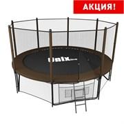Батут UNIX line 12 ft Black&Brown (outside) (366 см) (Цвет каркаса:Черный)