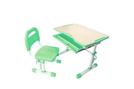 Комплект парта и стул трансформеры Fundesk Vivo (Цвет столешницы:Зеленый, Цвет ножек стола:Белый)