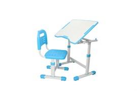 Комплект парта и стул трансформеры Fundesk Sole 2 (Цвет столешницы:Голубой, Цвет ножек стола:Белый)