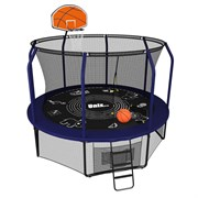 Батут UNIX line SUPREME GAME + Basketball (305 см / 10 ft) (Цвет каркаса:Синий)
