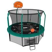 Батут UNIX line SUPREME GAME + Basketball (305 см / 10 ft) (Цвет каркаса:Зеленый)