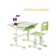 Комплект парта и стул FunDesk Lavoro new (Цвет столешницы:Зеленый, Цвет ножек стола:Белый)