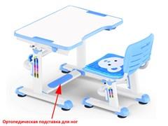 Комплект парта и стульчик Mealux BD-09 Teddy (Белый, Синий)