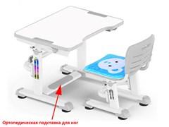 Комплект парта и стульчик Mealux BD-09 Teddy (Белый, Серый)