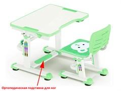 Комплект парта и стульчик Mealux BD-09 Teddy (Белый, Зеленый)