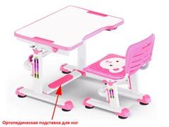 Комплект парта и стульчик Mealux BD-09 Teddy (Белый, Розовый)