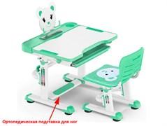 Комплект парта и стульчик Mealux BD-04 New XL Teddy (Белый, Зеленый)
