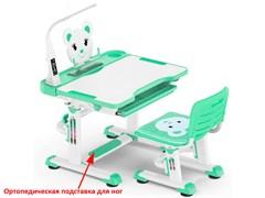 Комплект парта и стульчик Mealux BD-04 New XL Teddy (с лампой) (Белый, Зеленый)