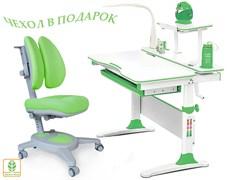 Комплект Mealux EVO-30 (парта Evo-Diego с лампой + кресло Y-115 с двойной спинкой)(дерево) (Белый, Зеленый)