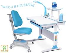 Комплект Mealux EVO-30 (парта Evo-Diego с лампой + кресло Y-110)(дерево) (Белый. Голубой)
