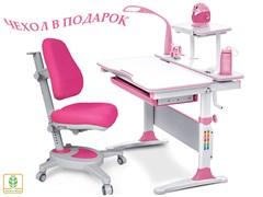 Комплект Mealux EVO-30 (парта Evo-Diego с лампой + кресло Y-110)(дерево) (Белый, Розовый)