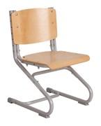 Растущий стул ДЭМИ ДЕРЕВО СУТ.01-01 (регулируется в 3-х плоскостях) (Цвет сиденья и спинки стула:Клен, Цвет каркаса:Серый)