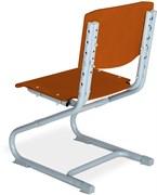 Растущий стул ДЭМИ ДЕРЕВО СУТ.01-01 (регулируется в 3-х плоскостях) (Цвет сиденья и спинки стула:Яблоня, Цвет каркаса:Серый)