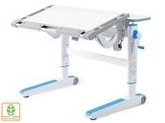 Детский стол Mealux ErgoWood M (Белый, Голубой)