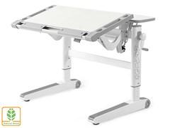 Детский стол Mealux ErgoWood L (Белый дуб, Серый)