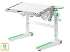 Детский стол Mealux ErgoWood L (Белый дуб, Зеленый)