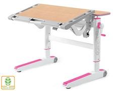 Детский стол Mealux ErgoWood L (Клен, Розовый)