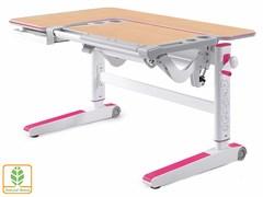 Детский стол Mealux KingWood (Клен, Розовый)