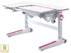 Детский стол Mealux KingWood (Белый, Розовый)