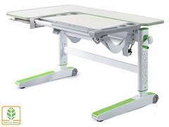 Детский стол Mealux KingWood (Белый дуб, Зеленый)