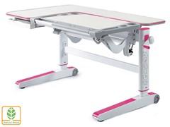 Детский стол Mealux KingWood (Белый дуб, Розовый)
