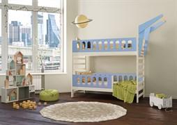 Кровать детская Domus Mia Loft Alfa (Цвет товара:Голубой)