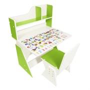 """Детская растущая парта и стул Я САМ """"Первое место"""" (Бело-зеленый)"""