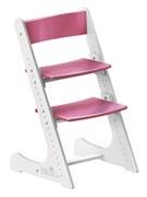 Детский растущий стул Конёк Горбунёк (Бело-розовый)
