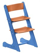Детский растущий стул Конёк Горбунёк (Сине-оранжевый)