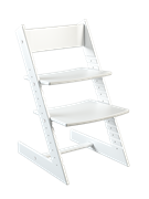 Детский растущий стул из бука Премиум Конёк Горбунёк (Белый бук)