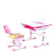 Комплект растущая парта и стул с чехлом RIFFORMA-07 (розовый)