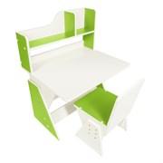 """Детская растущая парта и стул Я САМ """"Классик"""" (Бело-Зеленый)"""