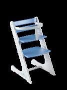 Комплект растущий стул и жесткий ограничитель Конёк Горбунёк Комфорт  ( Бело-синий)
