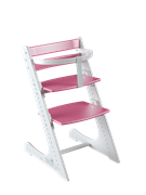Комплект растущий стул и жесткий ограничитель Конёк Горбунёк Комфорт  (Бело-розовый)
