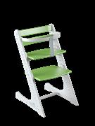 Комплект растущий стул и жесткий ограничитель Конёк Горбунёк Комфорт  (Бело-зеленый)