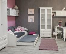 Кровать детская 38 попугаев Классика 95 с дополнительным спальным местом (Рамух белый)
