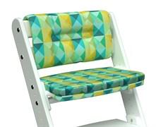 Комплект подушек для стула Конёк Горбунёк Комфорт на спинку и сиденье (Арлекино зима)