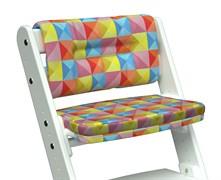 Комплект подушек для стула Конёк Горбунёк Комфорт на спинку и сиденье (Арлекино лето)