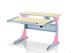 Парта Comf-Pro Harvard (BD-333) (Белый дуб, Розовый)