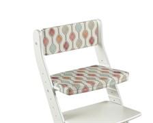 Комплект подушек для стула Конёк Горбунёк Стандарт на спинку и сиденье (Капельки)
