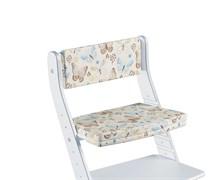 Комплект подушек для стула Конёк Горбунёк Стандарт на спинку и сиденье (Бабочки)