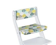Комплект подушек для стула Конёк Горбунёк Стандарт на спинку и сиденье (Листья)