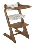 Комплект для кормления растущий стул и подушки Конёк Горбунёк Стандарт (Орех, Бабочки)