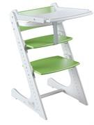 Стульчик для кормления Комфорт с жестким ограничителем Конек Горбунек (Бело-зеленый)